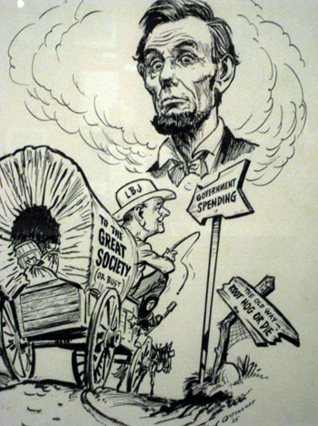 Lloyd Ostendorf, Great Society Lincoln political cartoon