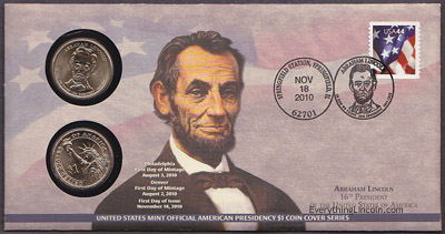 Abraham Lincoln presidential dollar cover