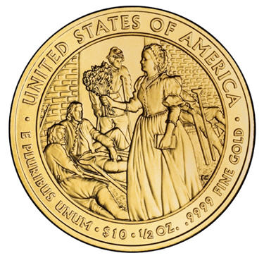 2010 Mary Todd Lincoln coin reverse