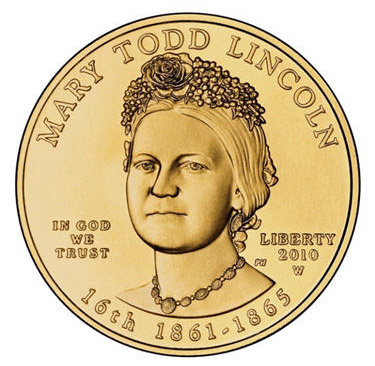 Mary Todd Lincoln 2010 gold coin