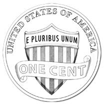 2010 Lincoln penny line art