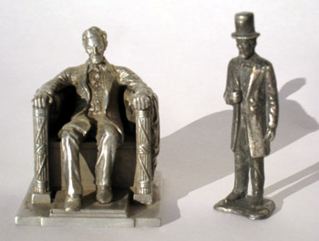 Abraham Lincoln pewter pieces