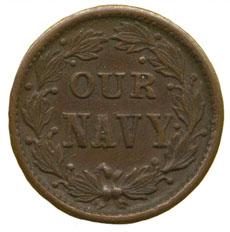 Civil War token Our Navy