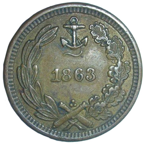 1863 Civil War Navy token