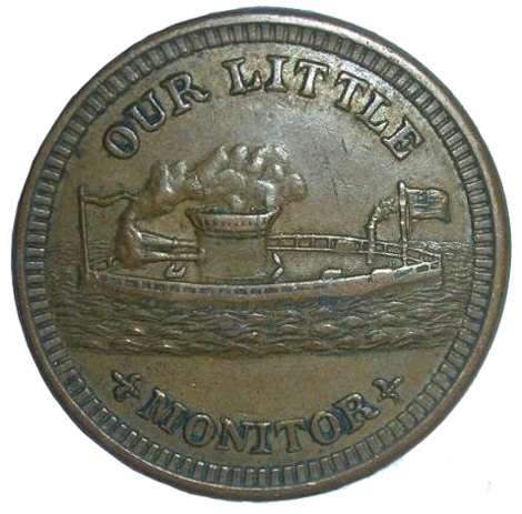 Our Little Monitor Civil War token