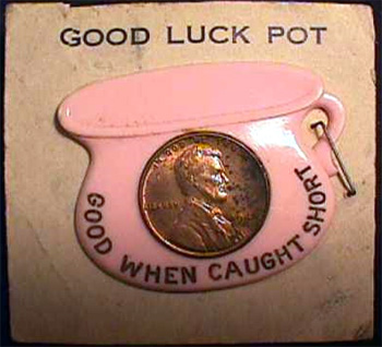 Encased Cent Good Luck Pot 1948
