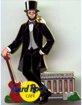 2002 Abraham Lincoln Hard Rock Cafe pin