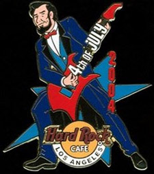 2004 Los Angeles Hard Rock Cafe pin Abe Lincoln