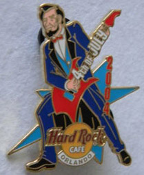 2004 Orlando Hard Rock Cafe Abe Lincoln pin