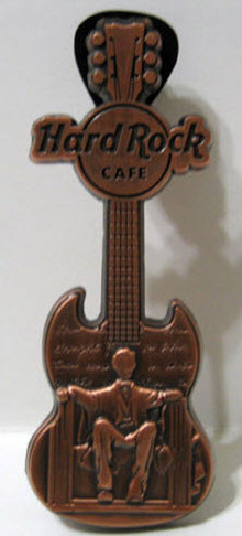 2008 Abe Lincoln Hard Rock Cafe guitar pin