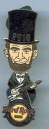 2010 Lincoln bobblehead pin