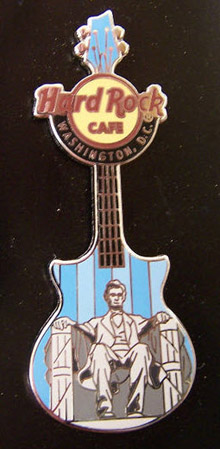 2011 guitar pin Abe Lincoln Hard Rock Cafe
