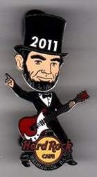 2011 Lincoln bobblehead pin