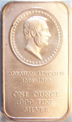 Abraham Lincoln silver bar