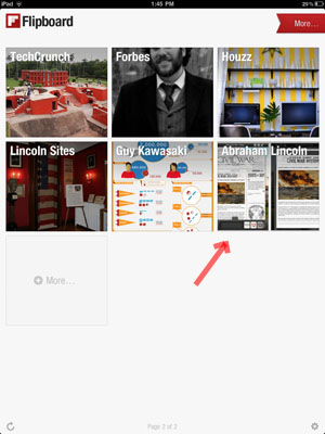 Abraham Lincoln on Flipboard step 4