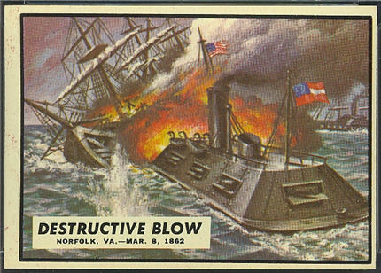 1962 Topps Civil War News Destructive Blow