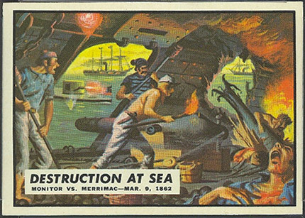 1962 Topps Civil War News Destruction At Sea