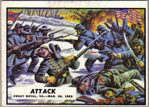 1962 Topps Civil War News Attack 11