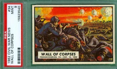 1962 Civil War News 34 Wall of Corpses PSA 9