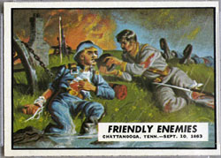 1962 Topps Civil War News Friendlly Enemies