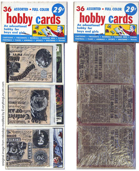 1962 Topps Civil War News rack pack