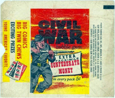 1962 Topps Civil War News wrapper