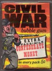 1962 Topps Civil War News wax pack