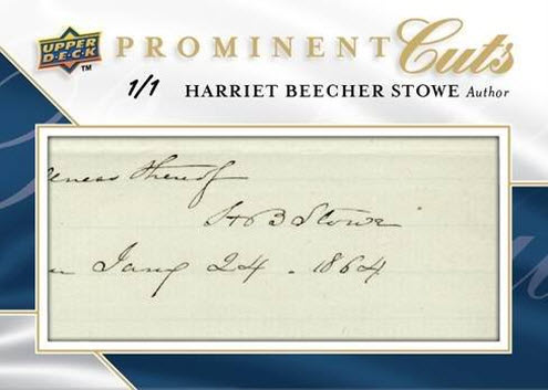 Upper Deck Prominent Cuts Harriet Beecher Stowe