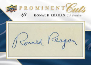 Upper Deck Ronald Reagan auto cut