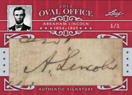 Abraham Lincoln Leaf Oval Office