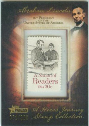 Topps Stamps Nation of Readers Lincoln