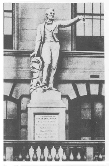 Pietro Mezzara sculpted the first Abraham Lincoln statue
